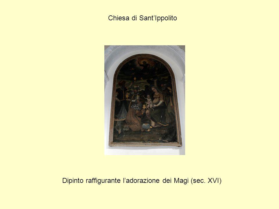 Chiesa di Sant'Ippolito Dipinto raffigurante l'adorazione dei Magi (sec. XVI)