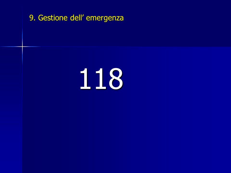 9. Gestione dell' emergenza 118