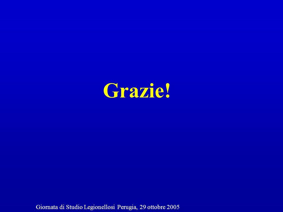 Grazie! Giornata di Studio Legionellosi Perugia, 29 ottobre 2005