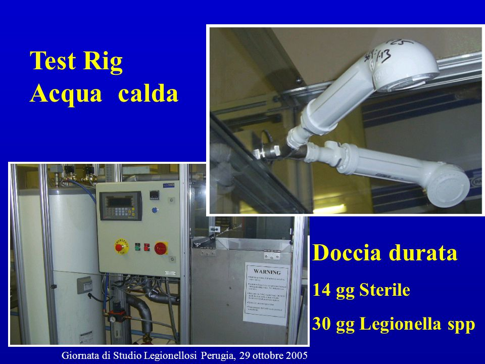 Effectiveness of installing an anti- bacterial filter at water taps to prevent legionella infections G.Salvatorelli, S.Medici,G.Finzi,S.