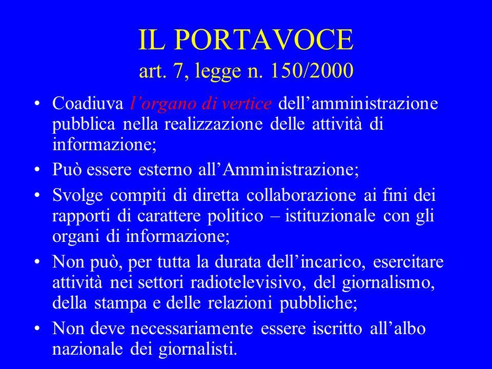 IL PORTAVOCE art.7, legge n.