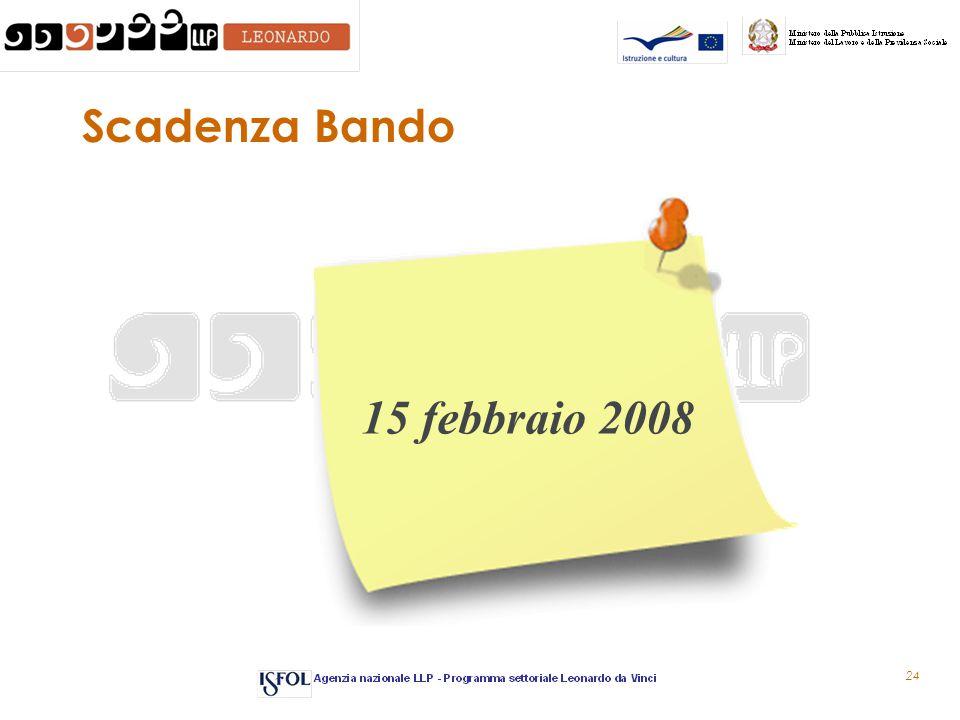 24 Scadenza Bando 15 febbraio 2008