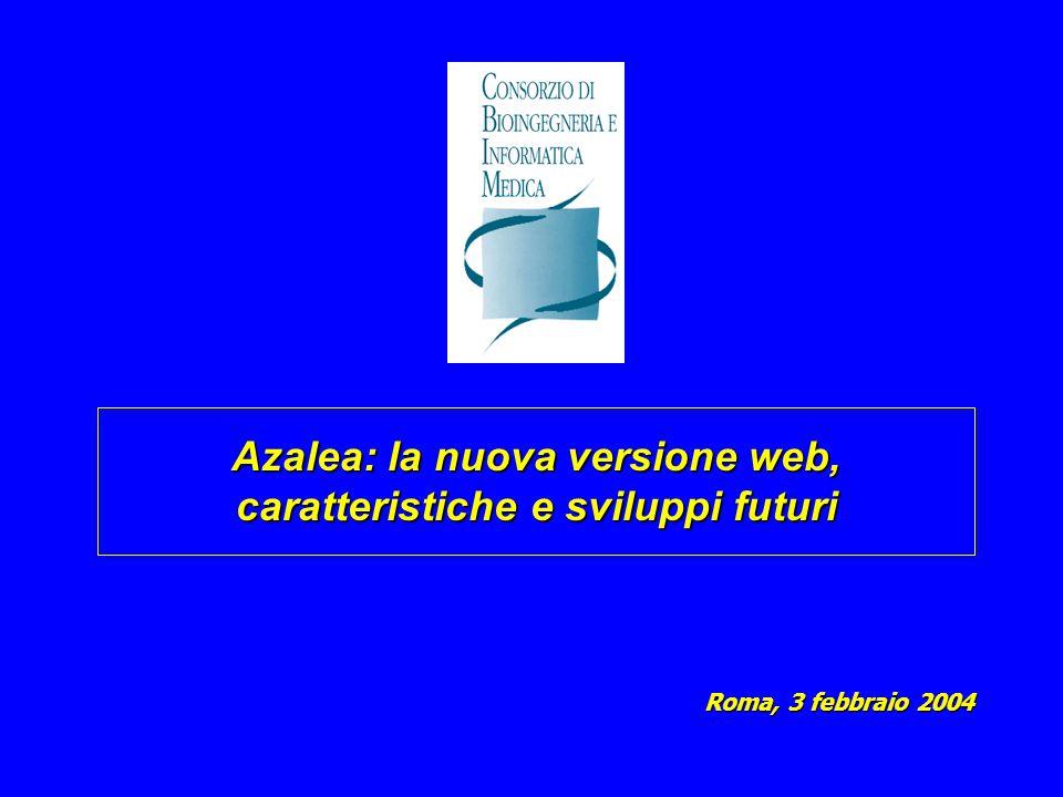 Azalea: la nuova versione web, caratteristiche e sviluppi futuri Roma, 3 febbraio 2004