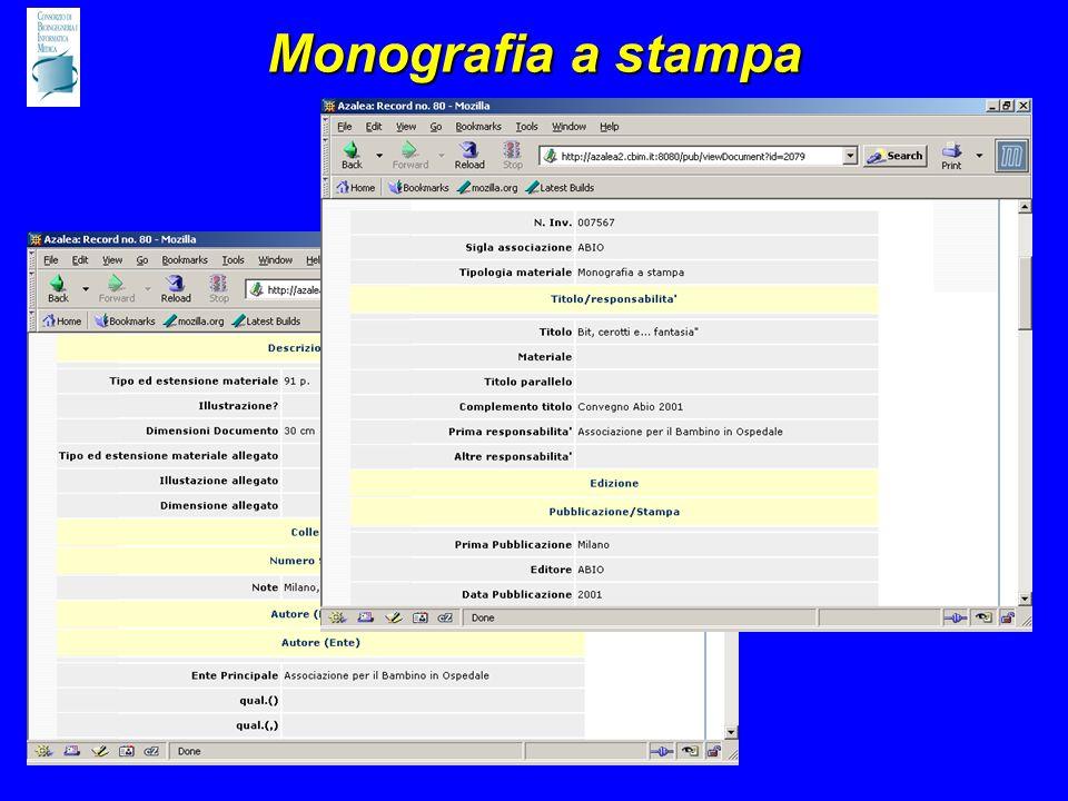 Monografia a stampa