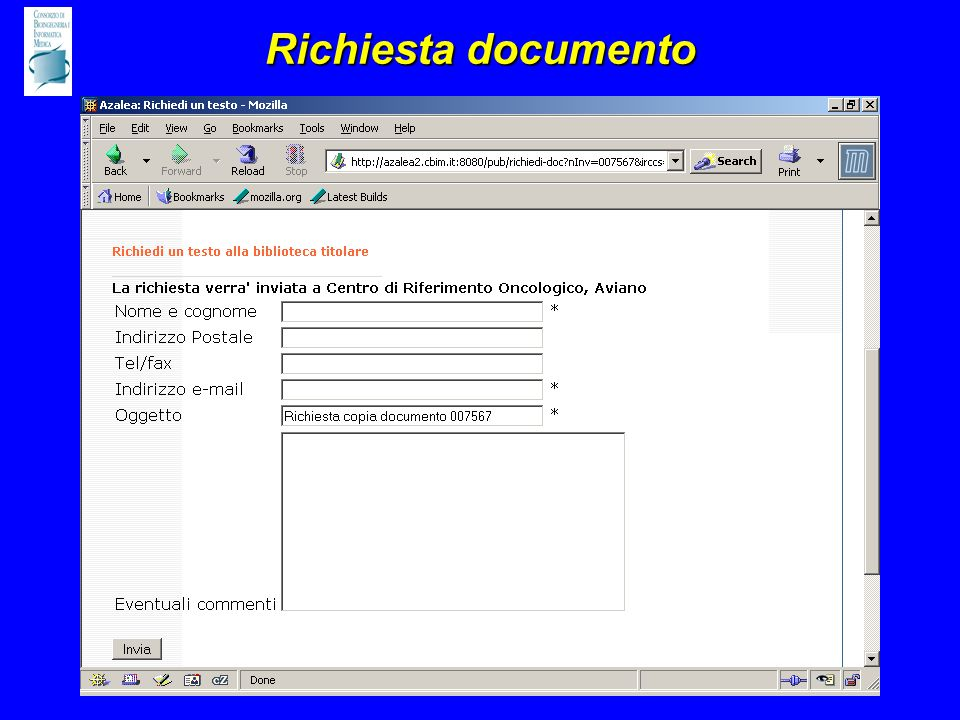 Richiesta documento