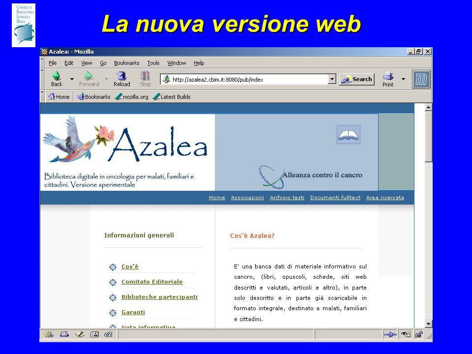 La nuova versione web