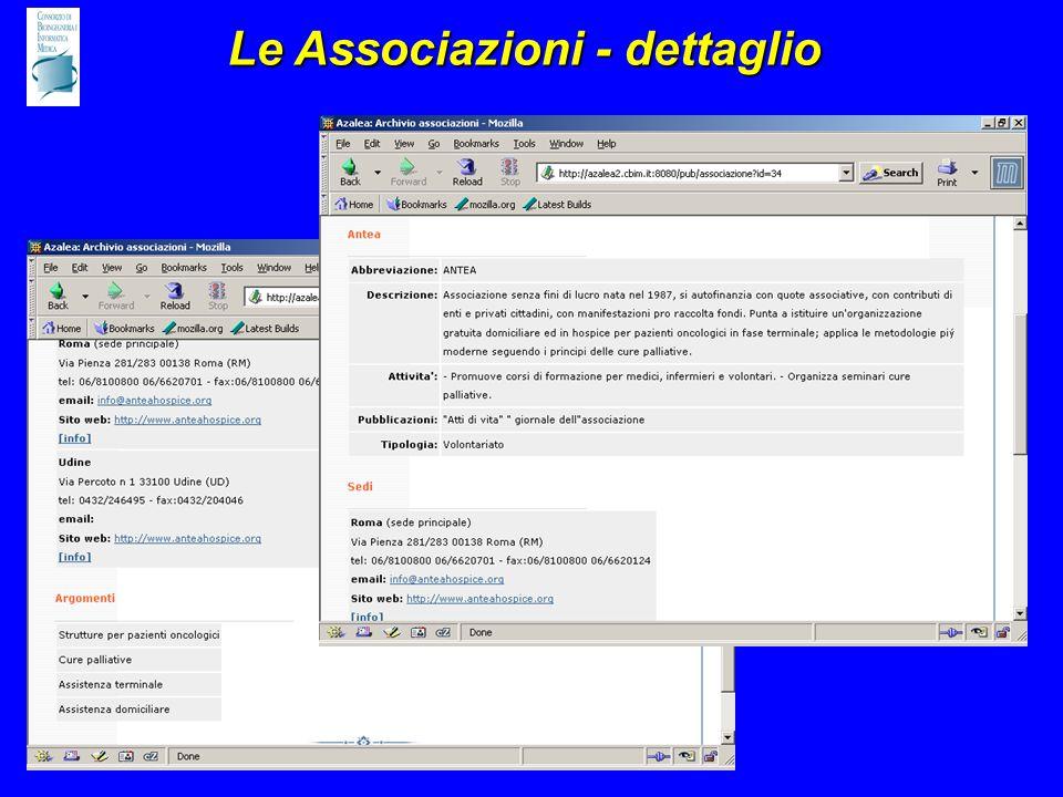 Le Associazioni - dettaglio
