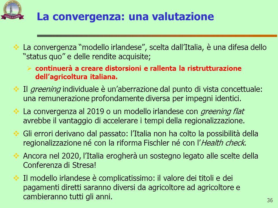 """La convergenza: una valutazione  La convergenza """"modello irlandese"""", scelta dall'Italia, è una difesa dello """"status quo"""" e delle rendite acquisite; """