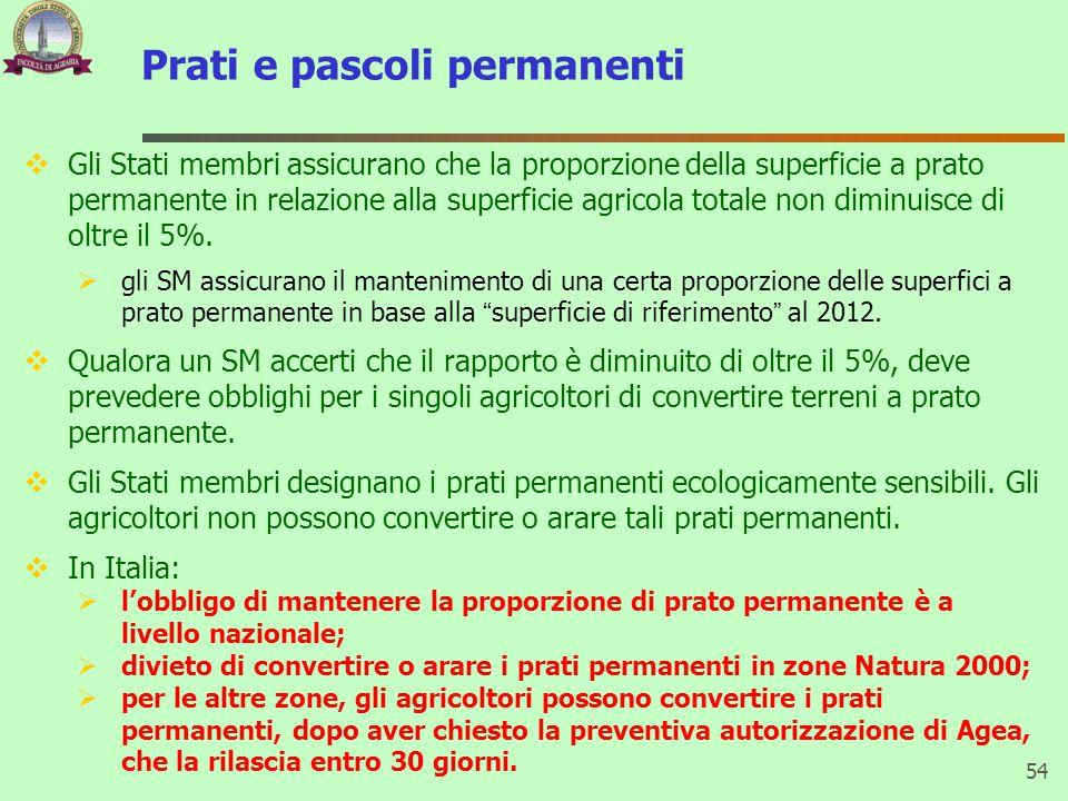 Prati e pascoli permanenti  Gli Stati membri assicurano che la proporzione della superficie a prato permanente in relazione alla superficie agricola totale non diminuisce di oltre il 5%.