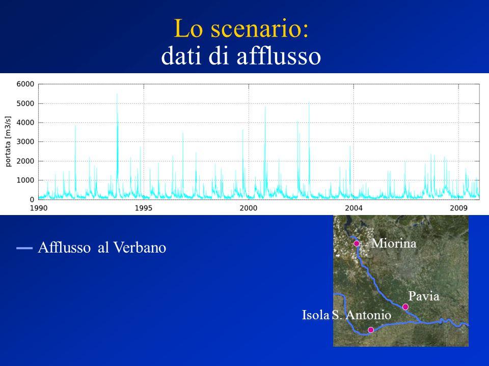 Naturale A0 Diga attuale Dig. Att + FC Diga Nuova Esondazioni Ver vs Ambiente Verbano