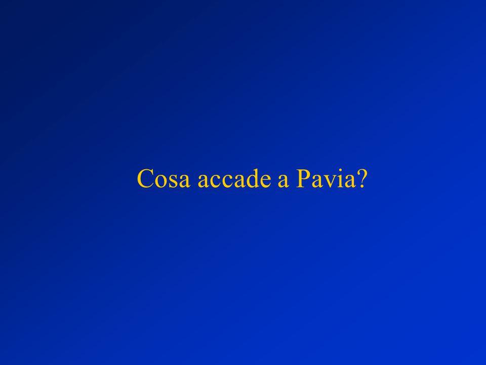 Cosa accade a Pavia