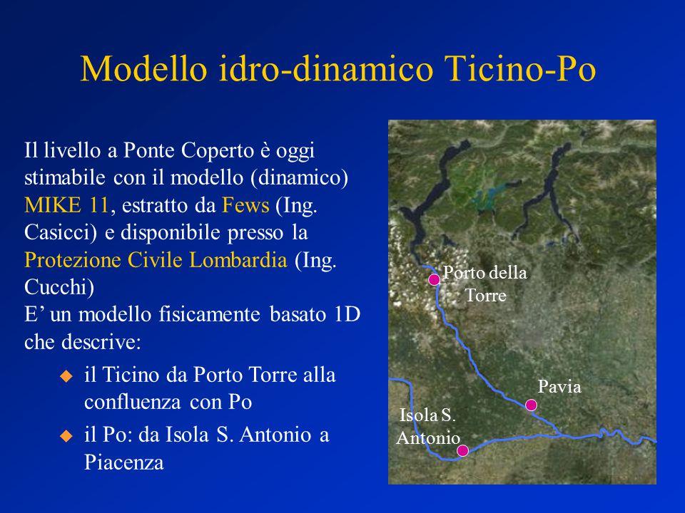 Modello idro-dinamico Ticino-Po Isola S.