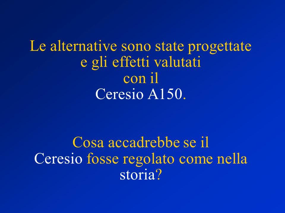 Le alternative sono state progettate e gli effetti valutati con il Ceresio A150.