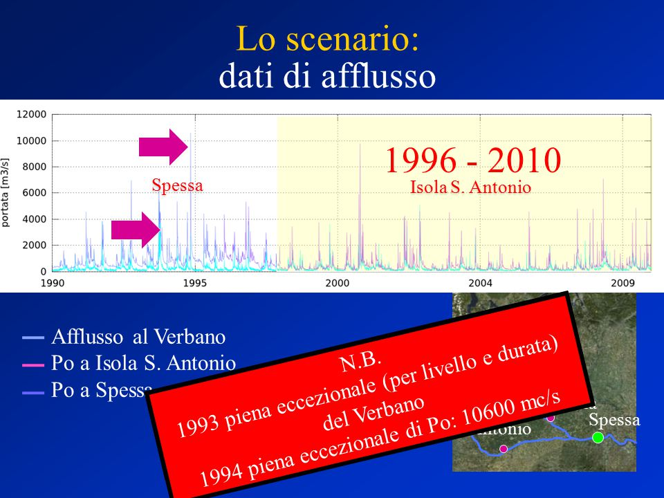 Isola S. Antonio Pavia Miorina Afflusso al Verbano Po a Isola S.