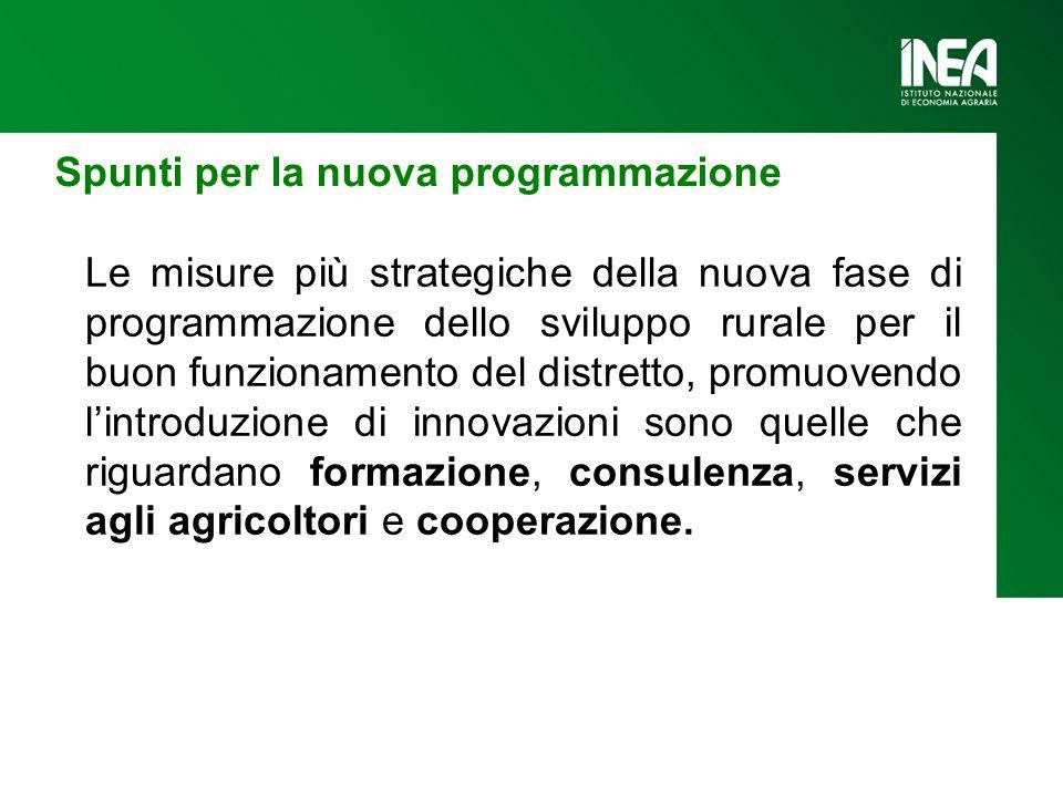 Spunti per la nuova programmazione Le misure più strategiche della nuova fase di programmazione dello sviluppo rurale per il buon funzionamento del di