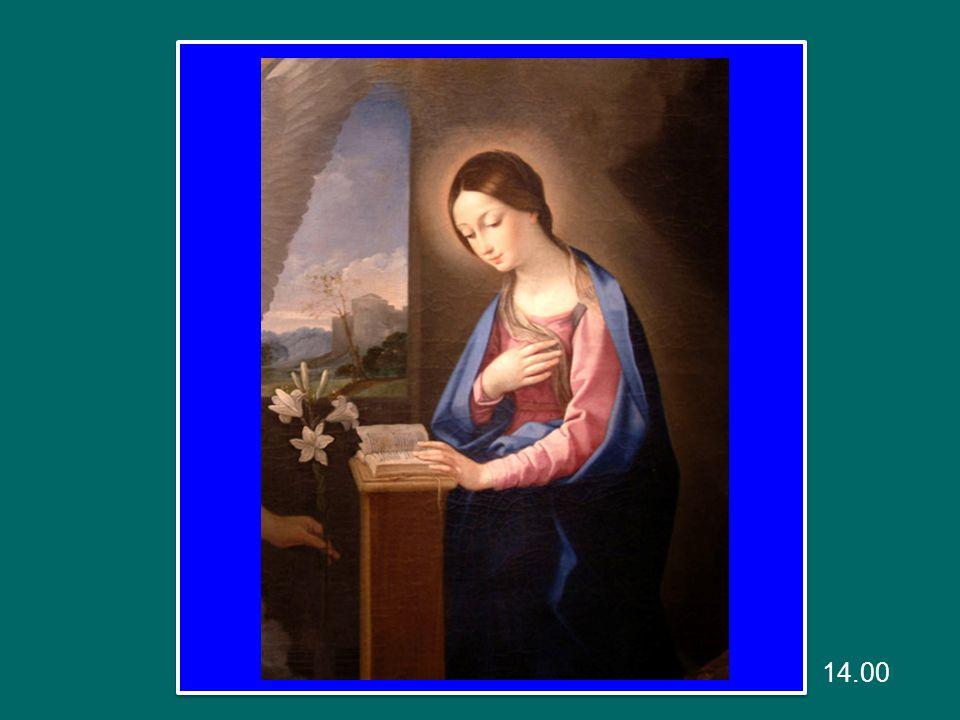 La gioia di Maria è piena, perché nel suo cuore non c'è ombra di peccato.