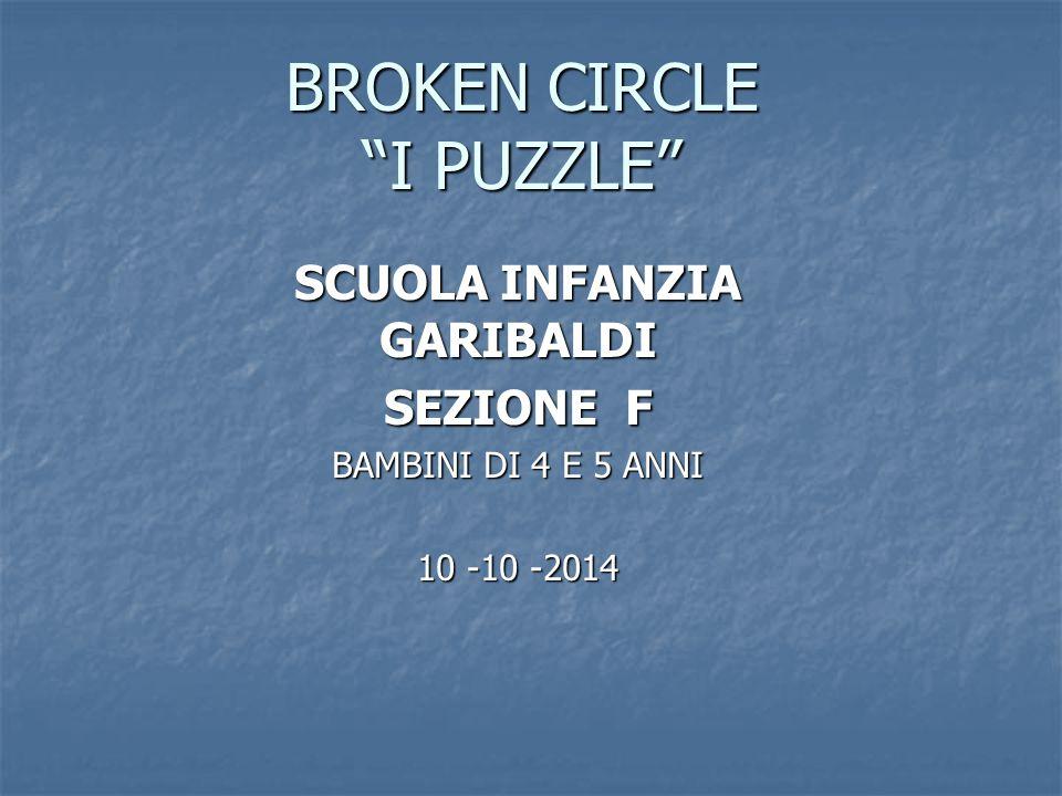 """BROKEN CIRCLE """"I PUZZLE"""" SCUOLA INFANZIA GARIBALDI SEZIONE F BAMBINI DI 4 E 5 ANNI 10 -10 -2014"""