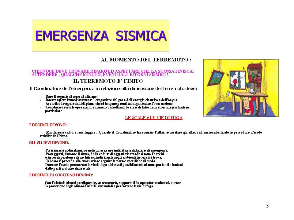 3 EMERGENZA SISMICA