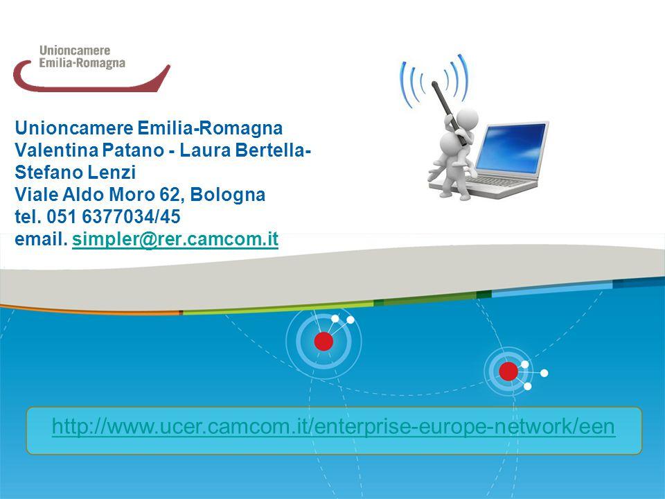 Unioncamere Emilia-Romagna Valentina Patano - Laura Bertella- Stefano Lenzi Viale Aldo Moro 62, Bologna tel.