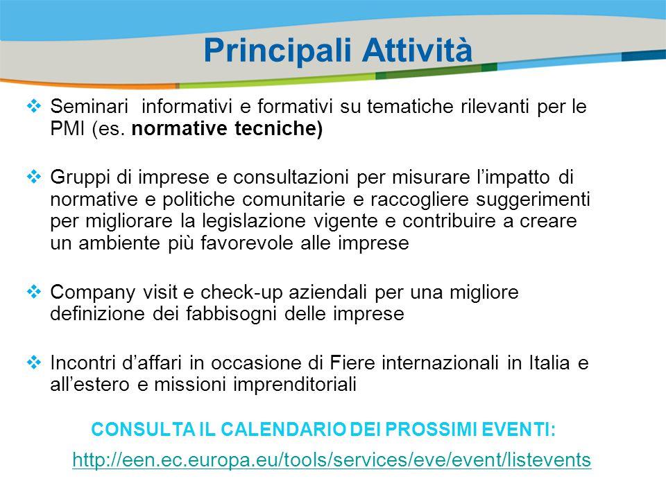 Title of the presentation | Date |‹#› Principali Attività  Seminari informativi e formativi su tematiche rilevanti per le PMI (es.