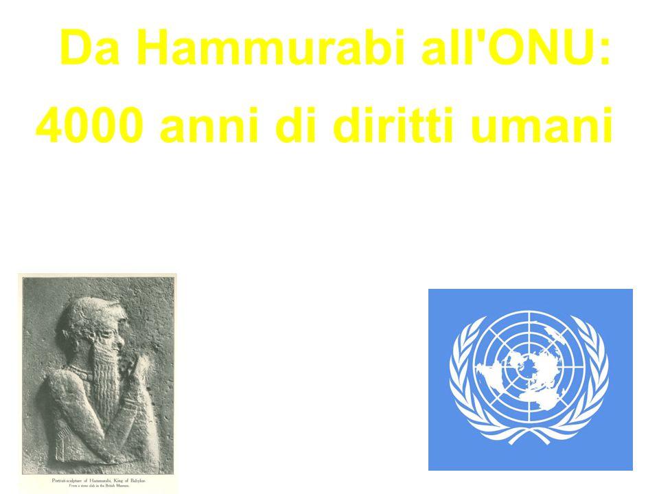 Da Hammurabi all'ONU: 4000 anni di diritti umani