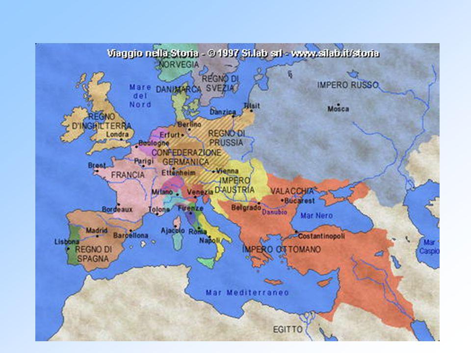 6. LA NUOVA CARTA POLITICA DELL' EUROPA La Francia perse tutte le conquiste fatte con la rivoluzione Vengono formati stati cuscinetto per impedire l'e