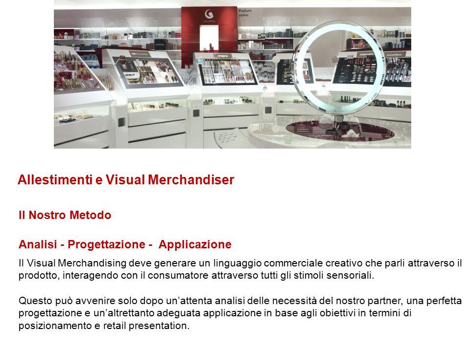 Analisi - Progettazione - Applicazione Il Nostro Metodo Il Visual Merchandising deve generare un linguaggio commerciale creativo che parli attraverso
