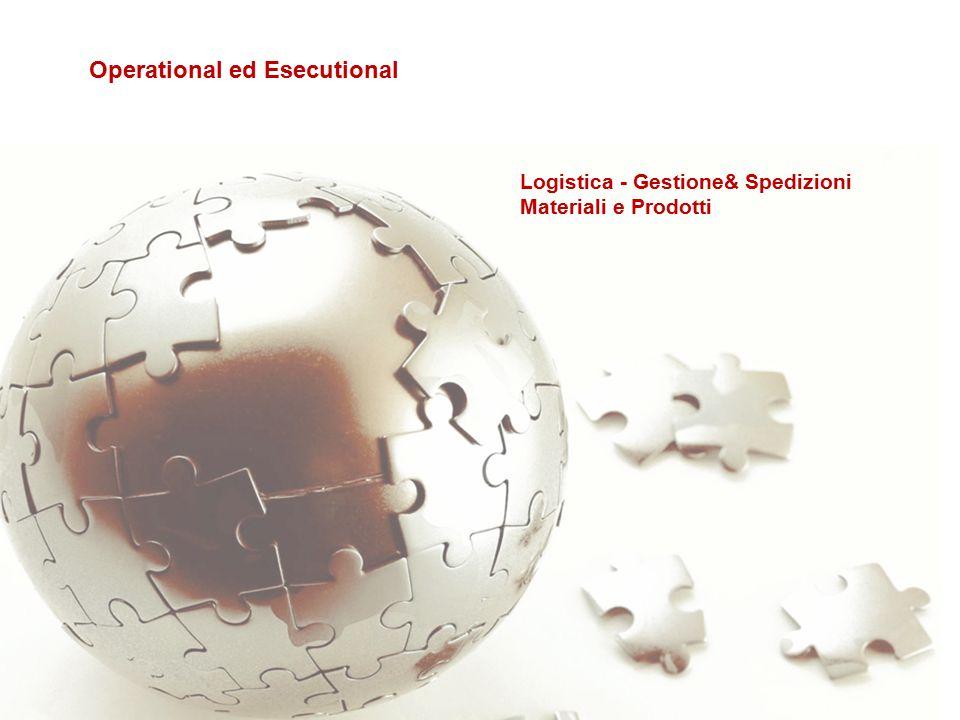 Logistica - Gestione& Spedizioni Materiali e Prodotti Operational ed Esecutional