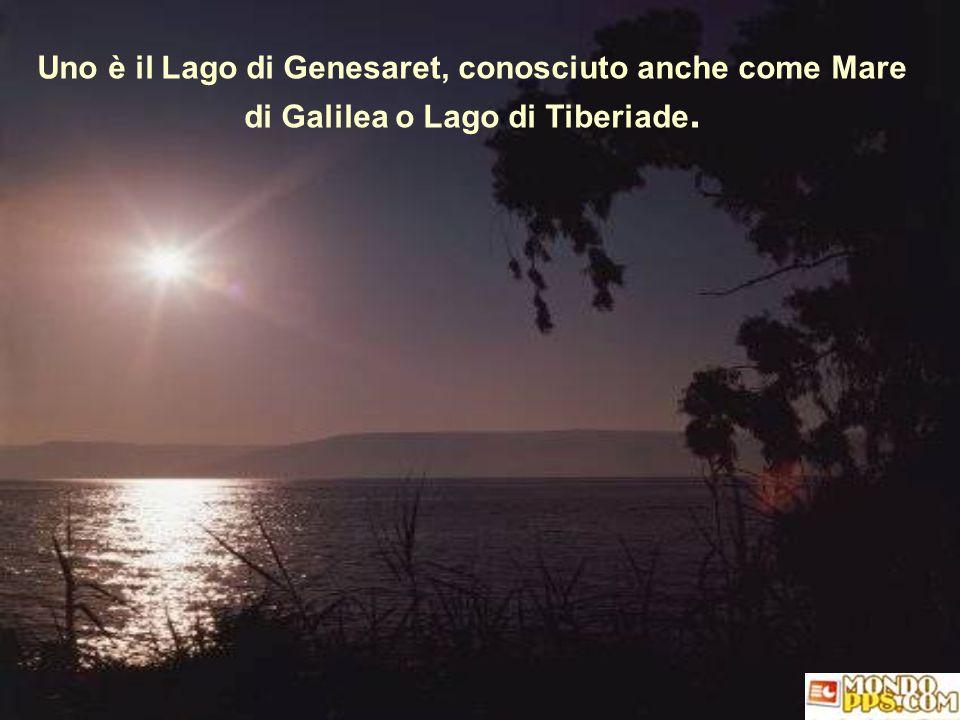 Nella Terra Santa ci sono due laghi alimentati dallo stesso fiume: il fiume Giordano Nella Terra Santa ci sono due laghi alimentati dallo stesso fiume