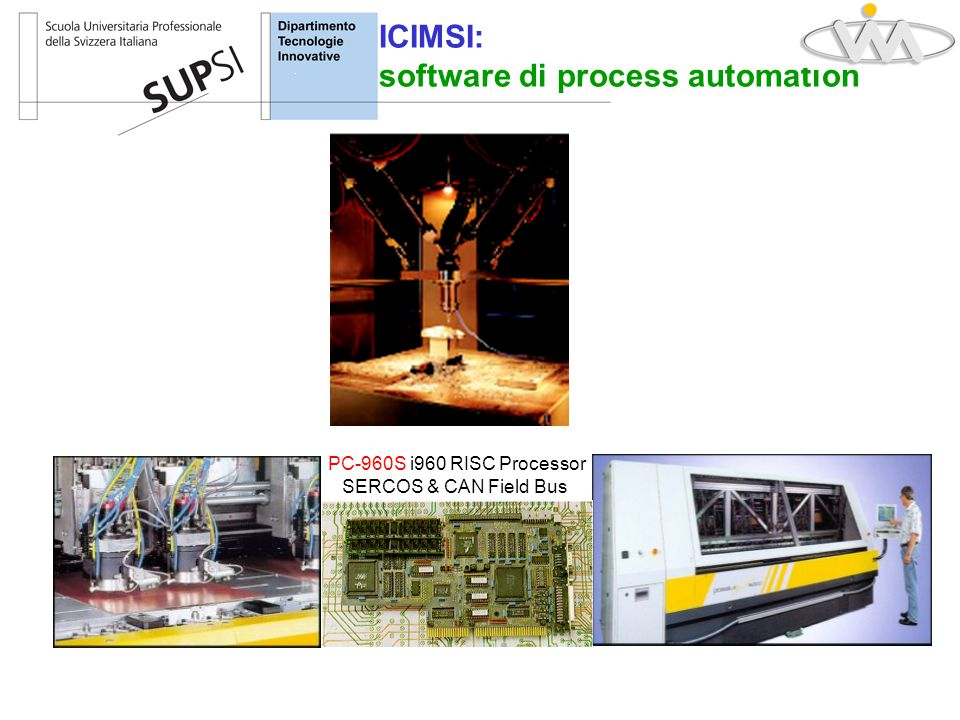 ICIMSI: software di process automation PC-960S i960 RISC Processor SERCOS & CAN Field Bus