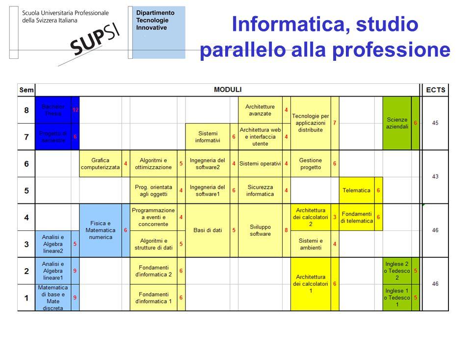 Informatica, studio parallelo alla professione