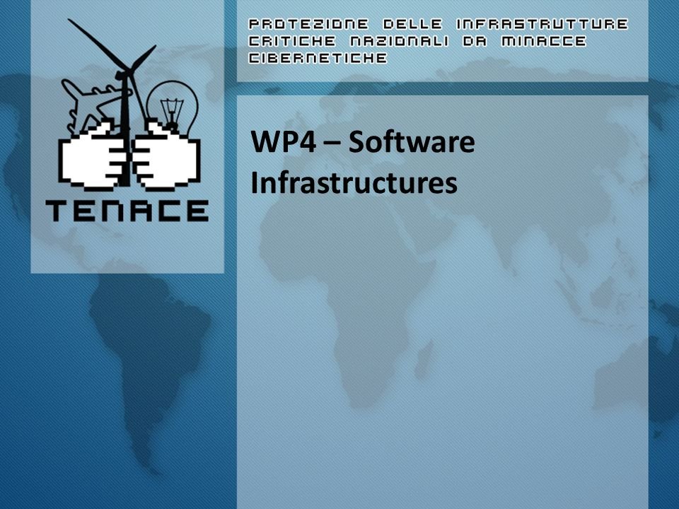 How it was Overall goal The outcome of WP4 is the design, implementation and evaluation of software components that will be integrated in WP5 to create a monitoring infrastructure.