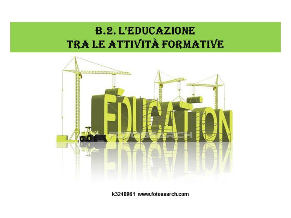 B.2. L'EDUCAZIONE TRA LE ATTIVITÀ FORMATIVE