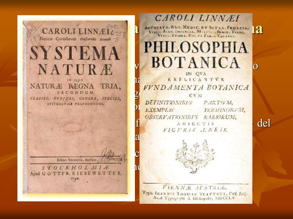 La nascita della biologia moderna la sistematica fece notevoli progressi e con Linneo arrivò ad una sua sistemazione definitiva con la creazione di un ordine gerarchico e col successo della nomenclatura binomia il riconoscimento che i fossili erano esseri viventi del passato dimostrarono l'antichità della Terra le esplorazioni geografiche resero evidente il fenomeno dell'estinzione