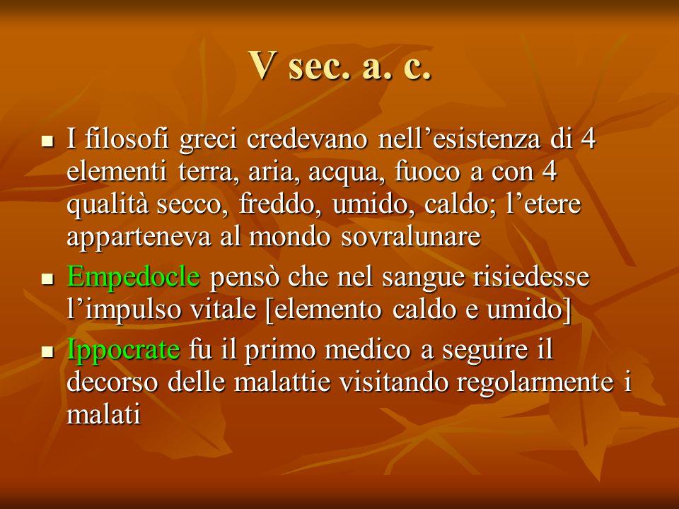 V sec. a. c.