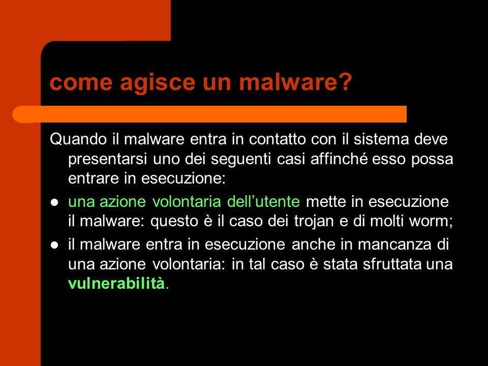 come agisce un malware.