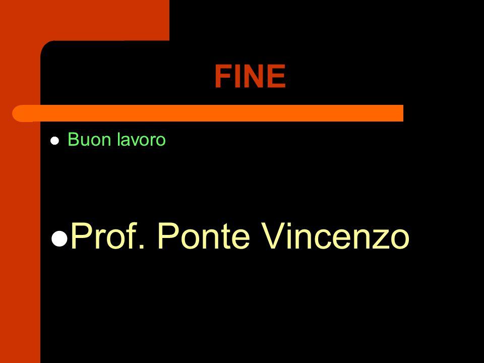 FINE Buon lavoro Prof. Ponte Vincenzo