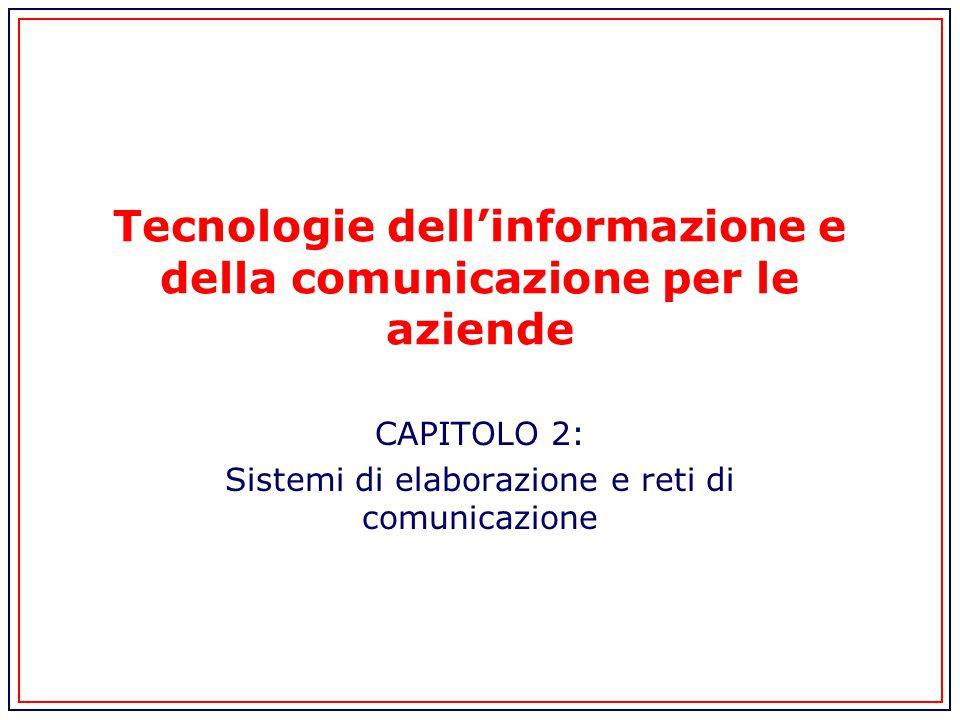 Tecnologie dell'informazione e della comunicazione per le aziende CAPITOLO 2: Sistemi di elaborazione e reti di comunicazione