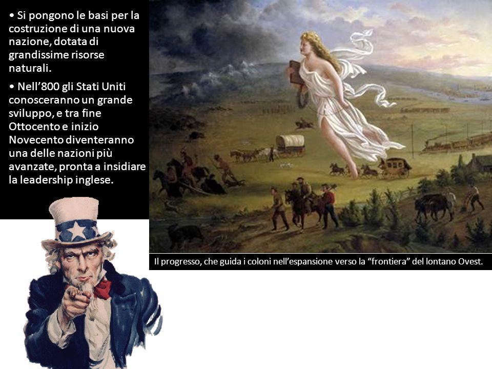 Si pongono le basi per la costruzione di una nuova nazione, dotata di grandissime risorse naturali.