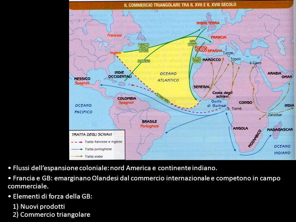 Grande sviluppo delle relazioni commerciali tra Vecchio e Nuovo Mondo.