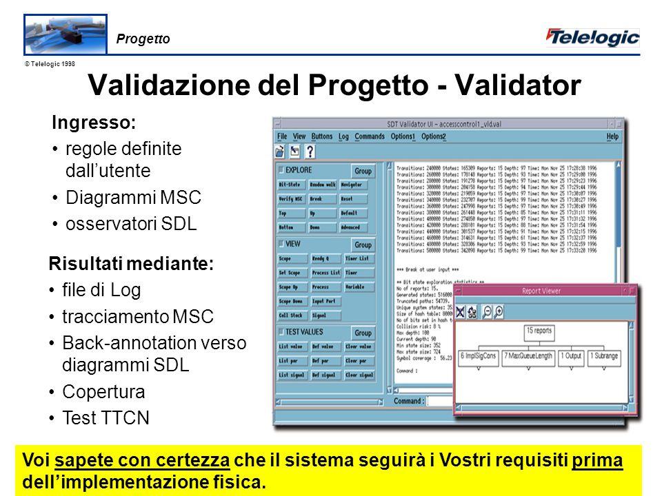© Telelogic 1998 6.3.9 Progetto