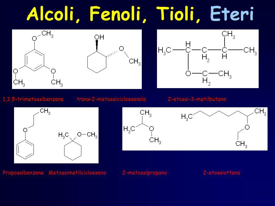 1,3,5-trimetossibenzene trans-2-metossicicloesanolo2-etossi-3-metilbutano Propossibenzene Metossimetilcicloesano 2-metossipropano 2-etossiottano Alcol