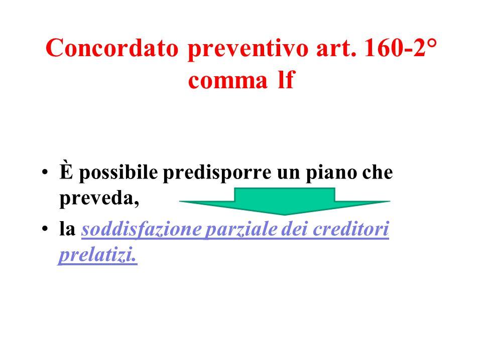 Concordato preventivo art.