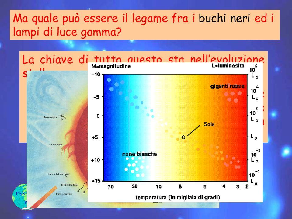 Ma quale può essere il legame fra i buchi neri ed i lampi di luce gamma.
