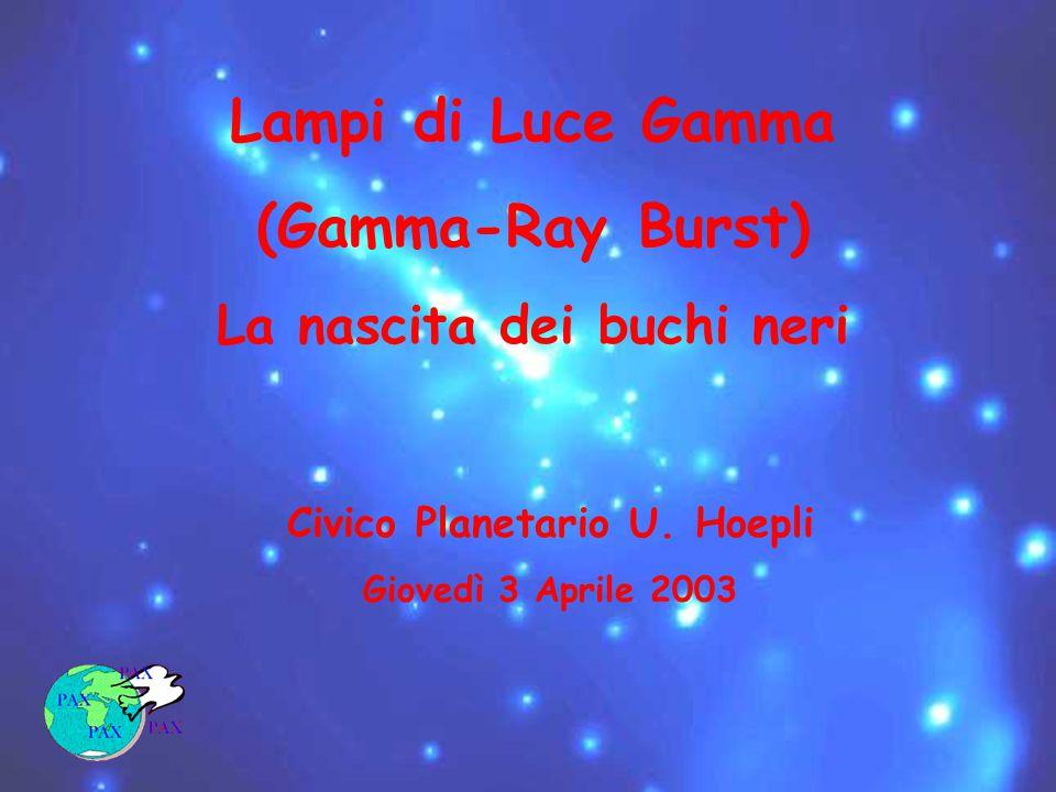 Lampi di Luce Gamma (Gamma-Ray Burst) La nascita dei buchi neri Civico Planetario U.
