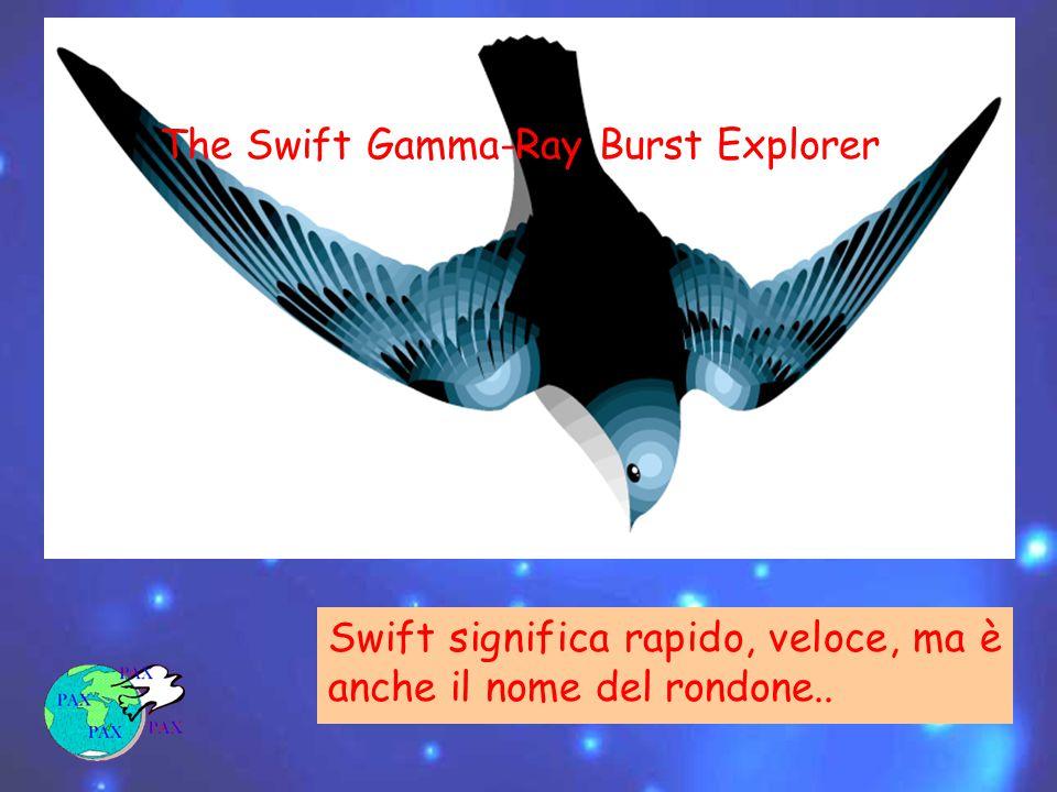 Swift significa rapido, veloce, ma è anche il nome del rondone.. The Swift Gamma-Ray Burst Explorer