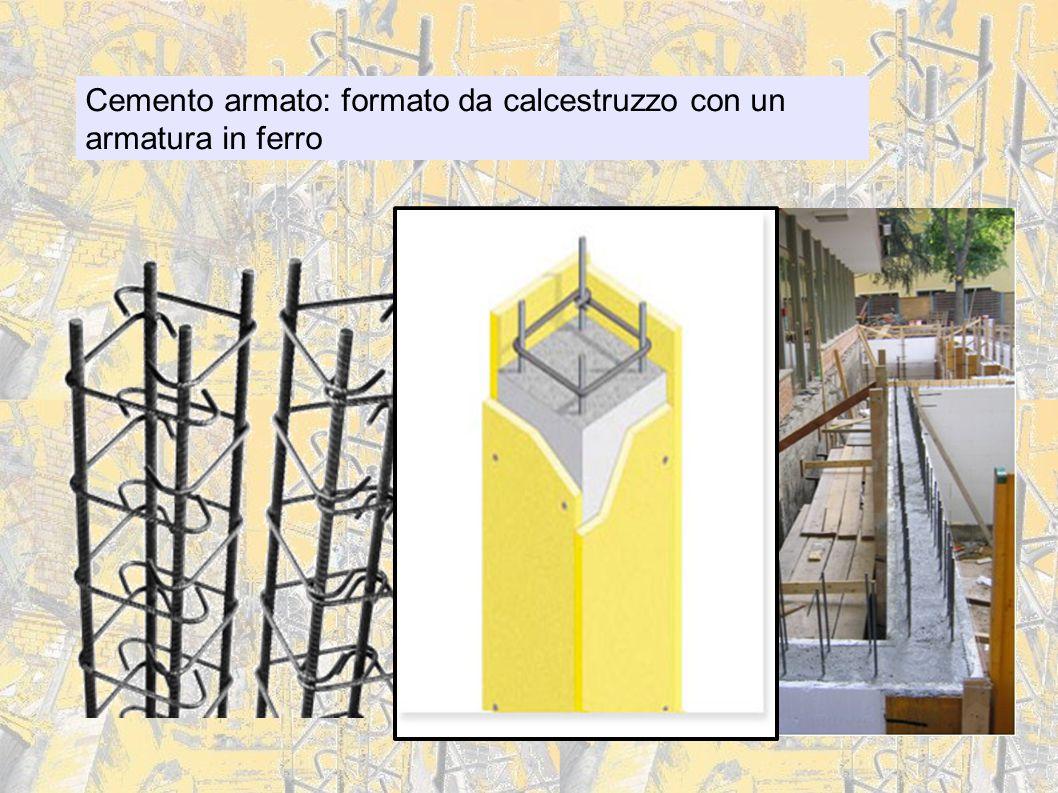 Cemento armato: formato da calcestruzzo con un armatura in ferro