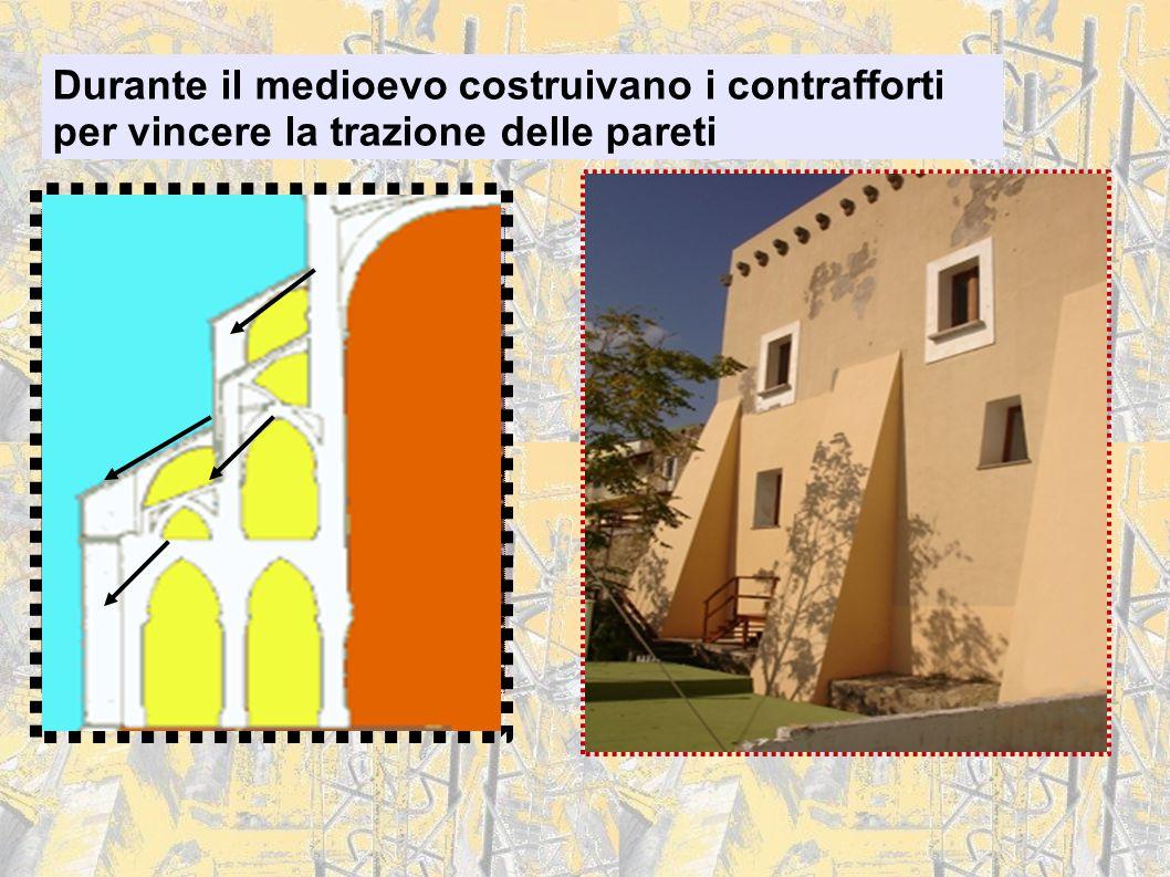 Durante il medioevo costruivano i contrafforti per vincere la trazione delle pareti