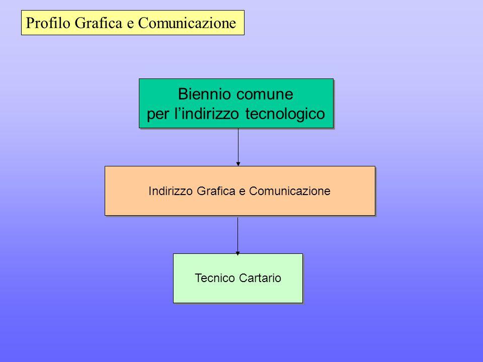 Biennio comune per l'indirizzo tecnologico Biennio comune per l'indirizzo tecnologico Indirizzo Grafica e Comunicazione Tecnico Cartario Profilo Grafica e Comunicazione
