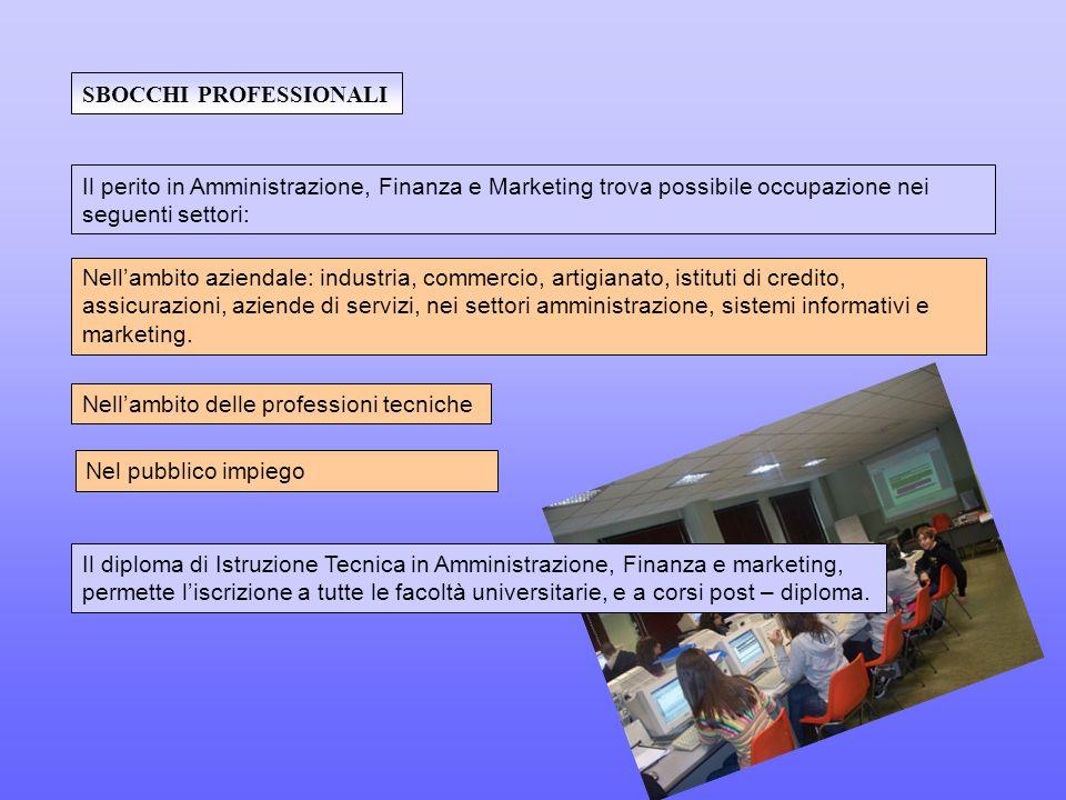Nel pubblico impiego Nell'ambito aziendale: industria, commercio, artigianato, istituti di credito, assicurazioni, aziende di servizi, nei settori amministrazione, sistemi informativi e marketing.